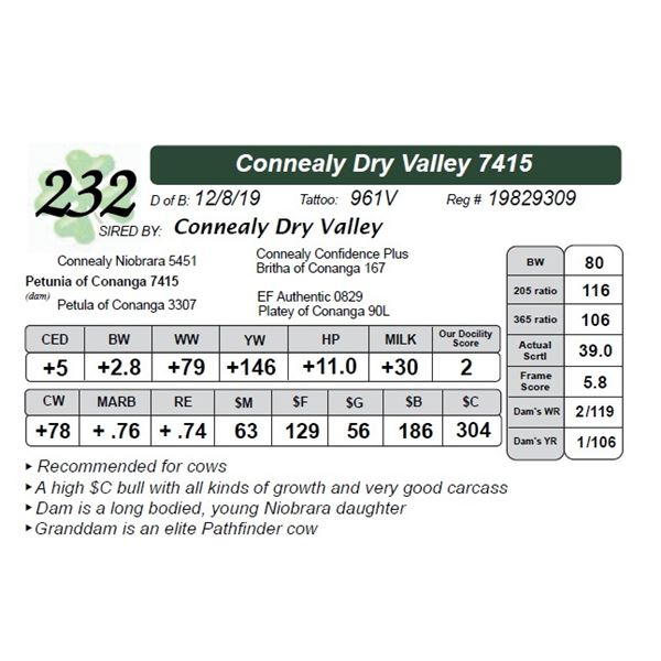 Connealy Dry Valley 7415