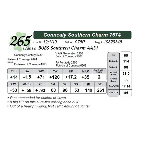 Connealy Southern Charm 7674
