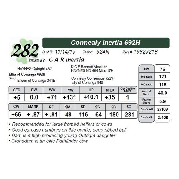 Connealy Inertia 692H