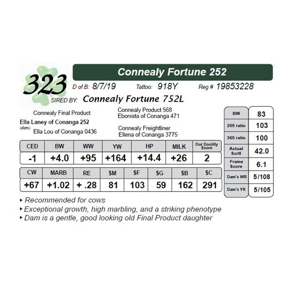 Connealy Fortune 252