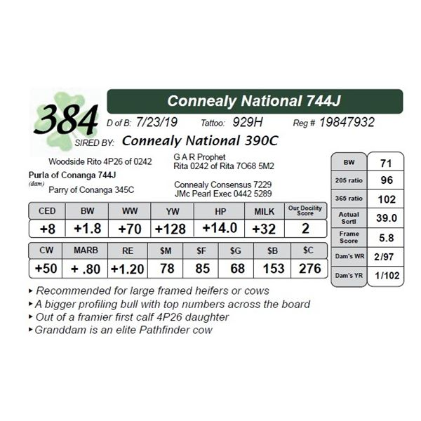 Connealy National 744J