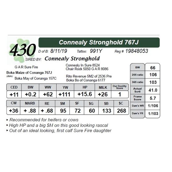 Connealy Stronghold 767J