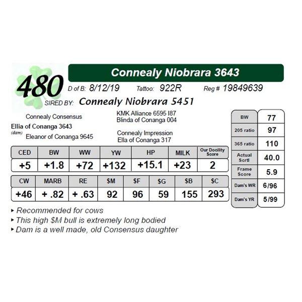 Connealy Niobrara 3643