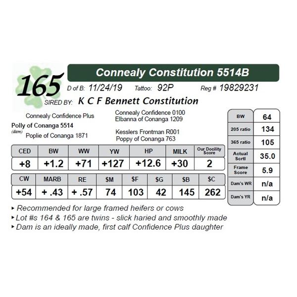 Connealy Constitution 5514B