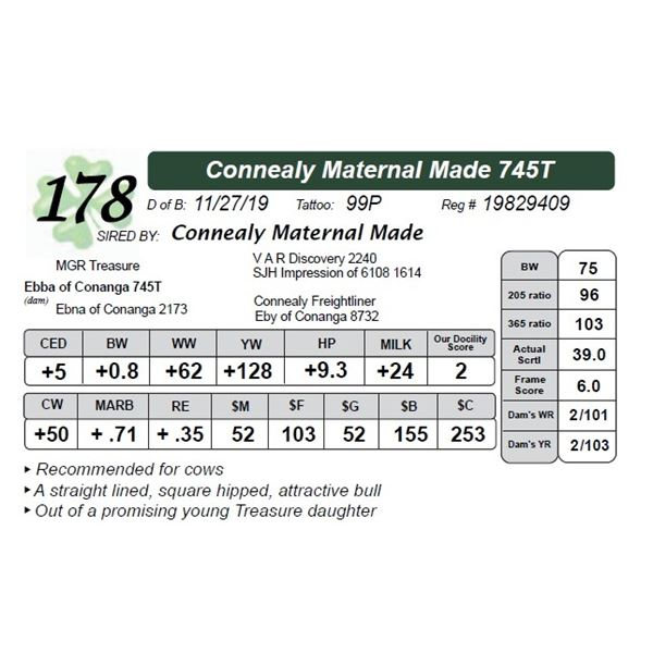 Connealy Maternal Made 745T