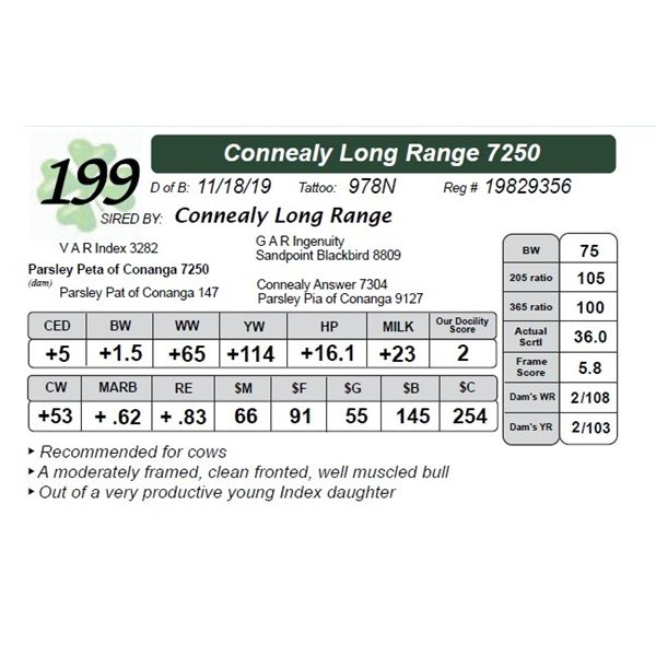 Connealy Long Range 7250