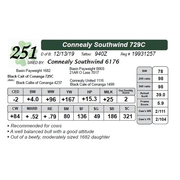 Connealy Southwind 729C