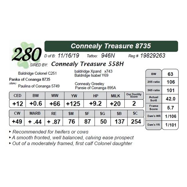 Connealy Treasure 8735