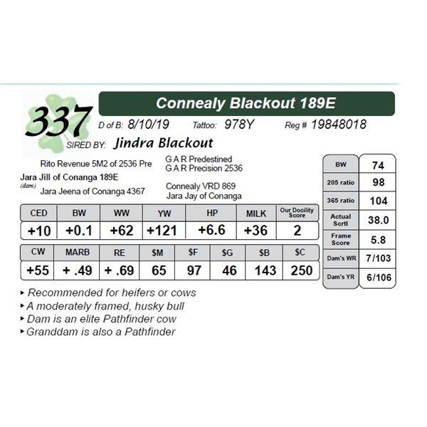 Connealy Blackout 189E