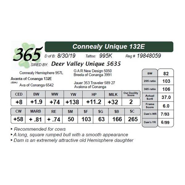 Connealy Unique 132E