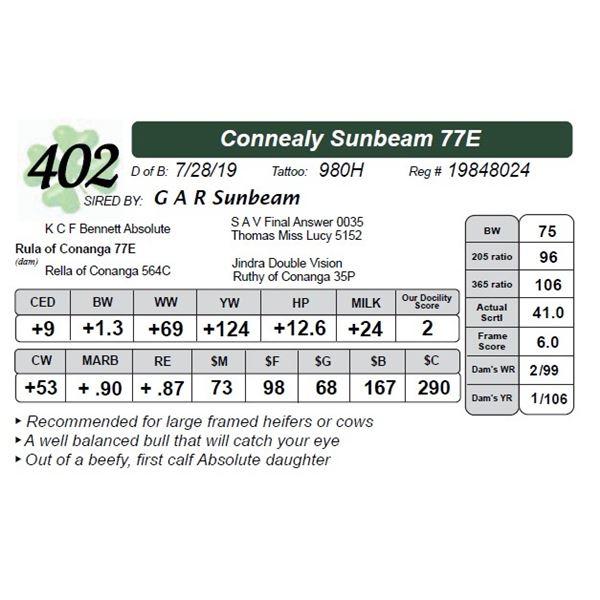 Connealy Sunbeam 77E