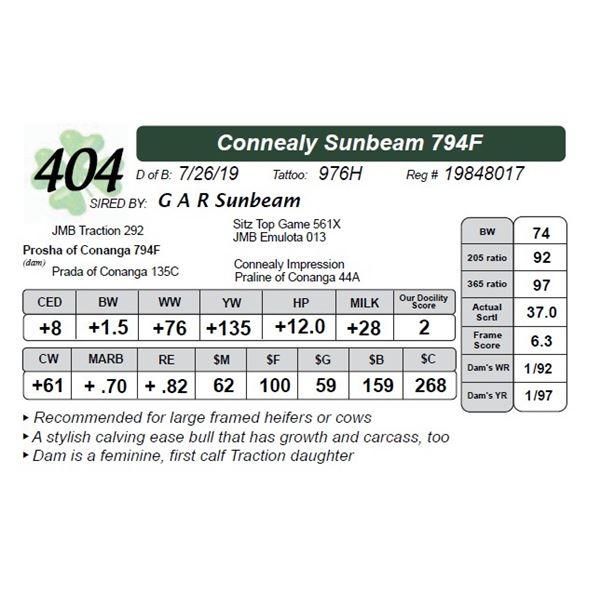 Connealy Sunbeam 794F