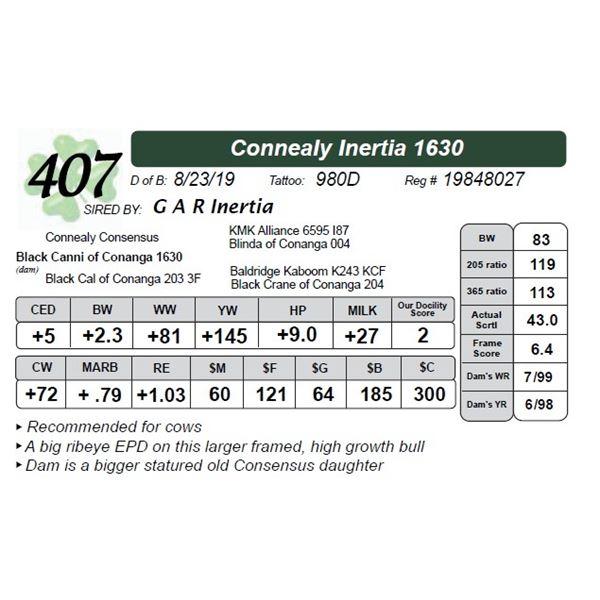 Connealy Inertia 1630