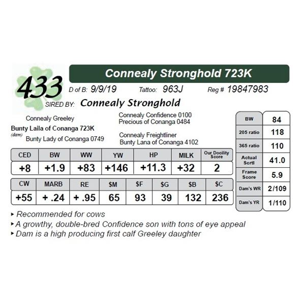 Connealy Stronghold 723K