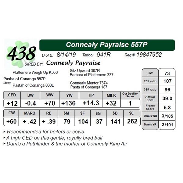 Connealy Payraise 557P