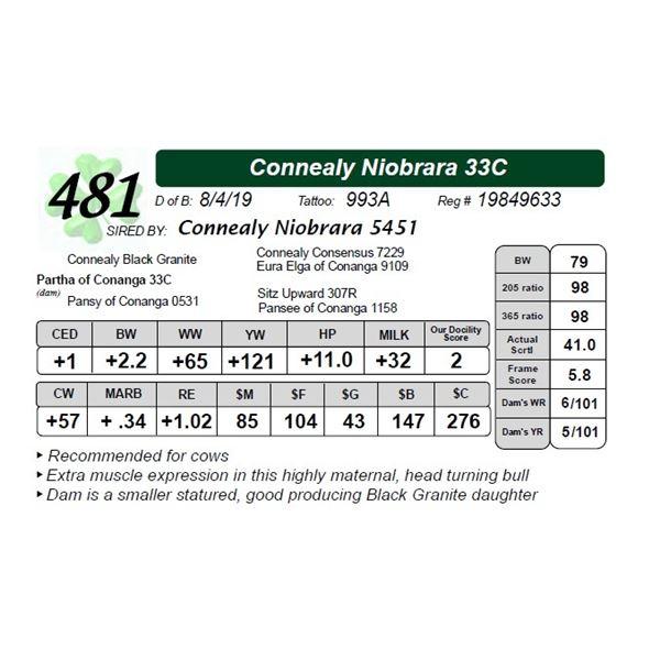 Connealy Niobrara 33C