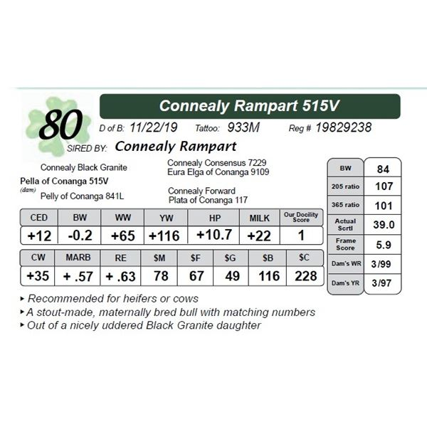 Connealy Rampart 515V