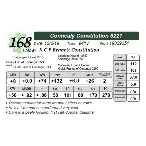 Connealy Constitution 8221