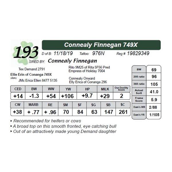 Connealy Finnegan 749X