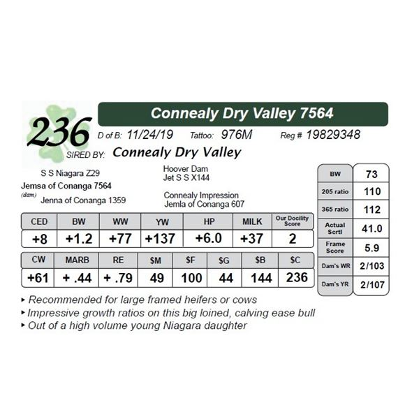 Connealy Dry Valley 7564