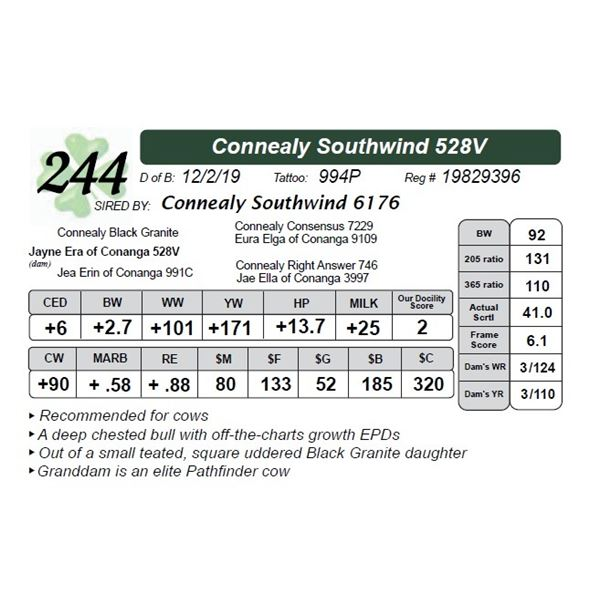 Connealy Southwind 528V