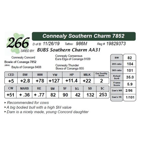 Connealy Southern Charm 7852