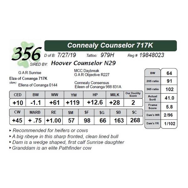 Connealy Counselor 717K