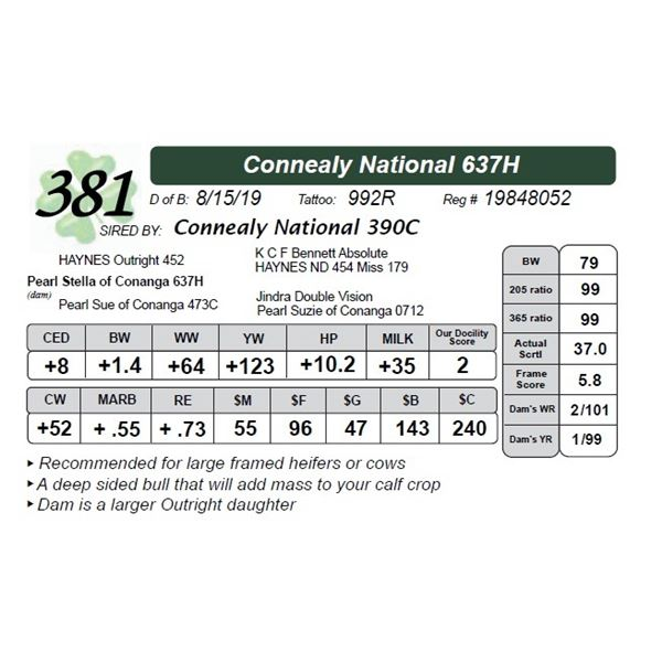 Connealy National 637H
