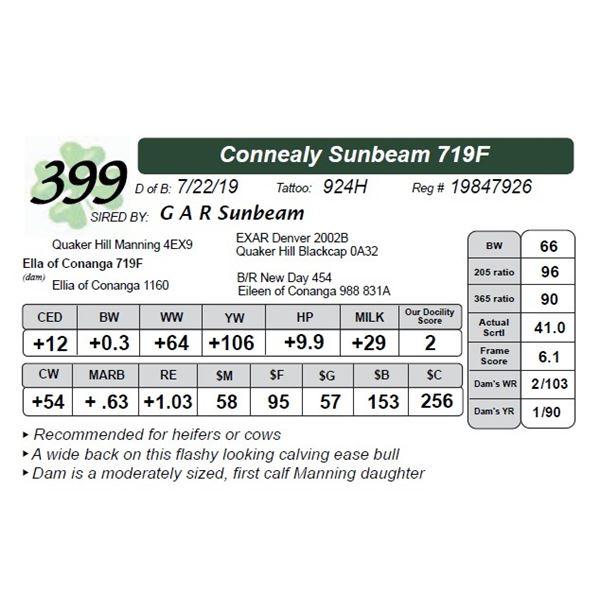 Connealy Sunbeam 719F