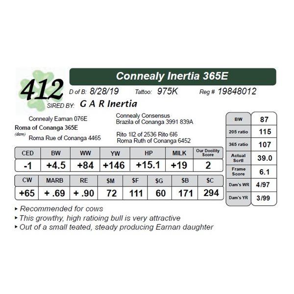 Connealy Inertia 365E