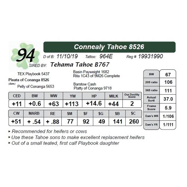 Connealy Tahoe 8526