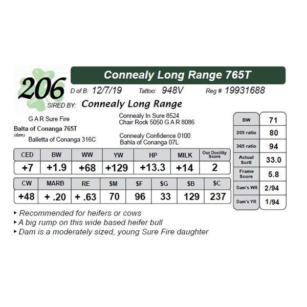 Connealy Long Range 765T
