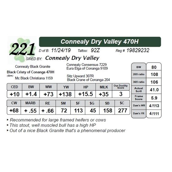 Connealy Dry Valley 470H