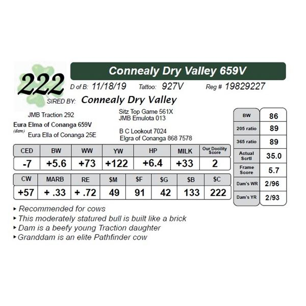 Connealy Dry Valley 659V