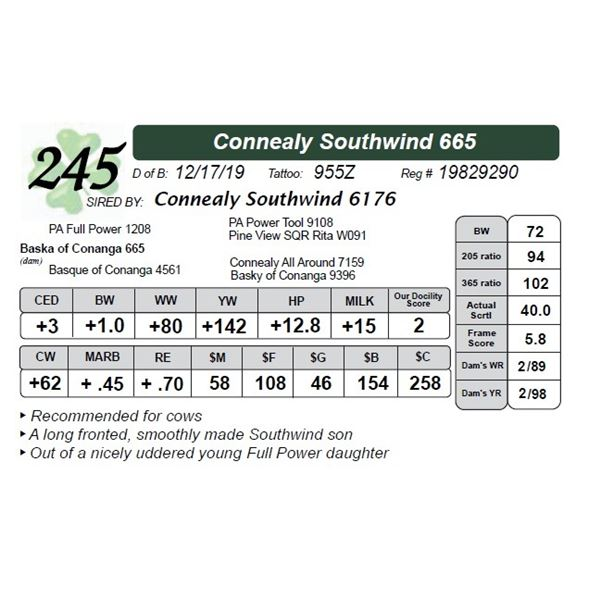 Connealy Southwind 665