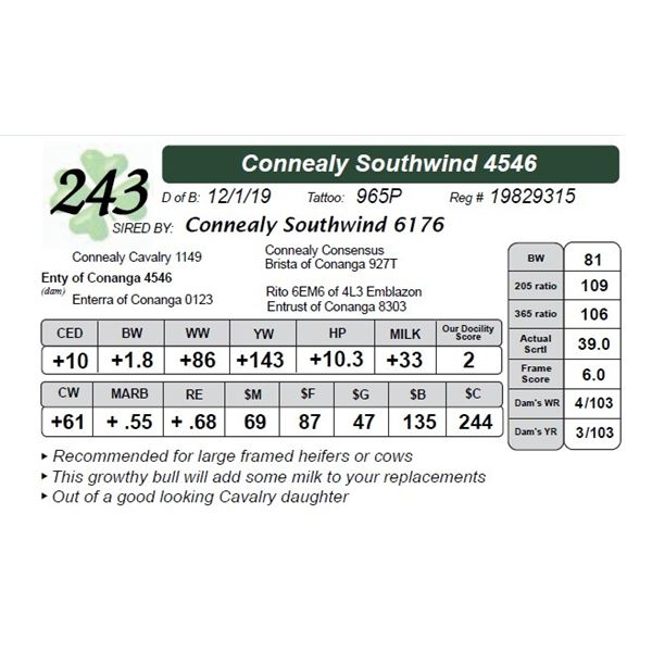 Connealy Southwind 4546
