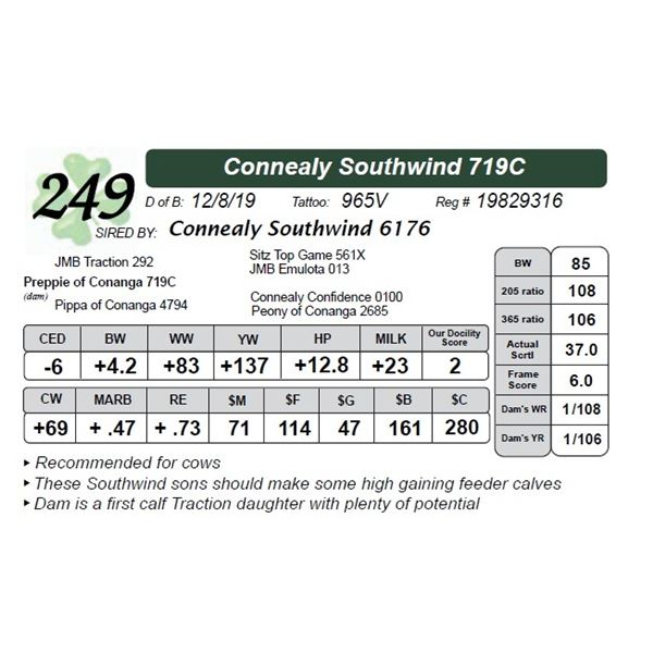 Connealy Southwind 719C