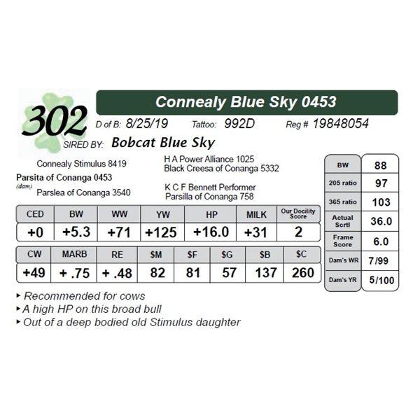 Connealy Blue Sky 0453