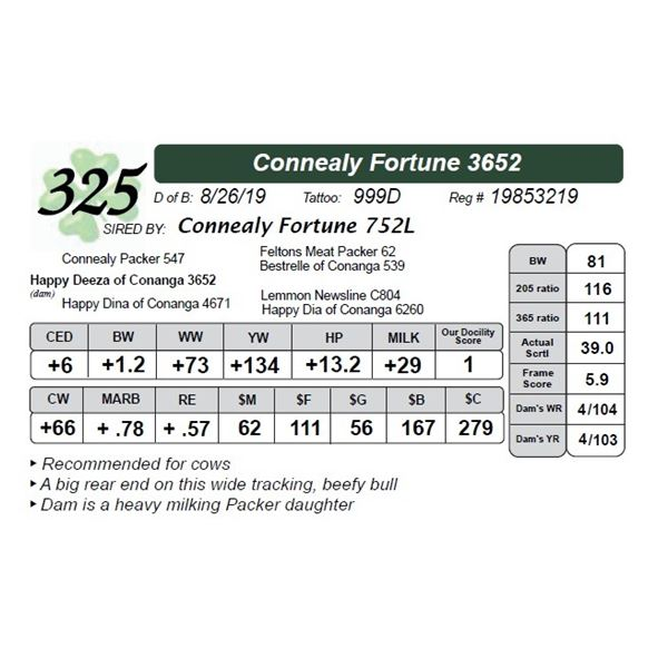 Connealy Fortune 3652