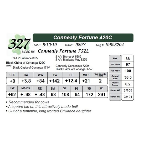 Connealy Fortune 420C