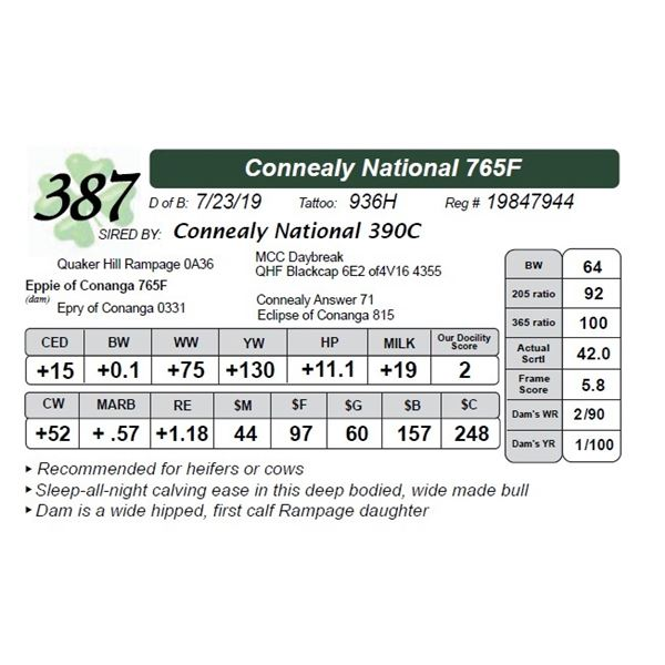 Connealy National 765F