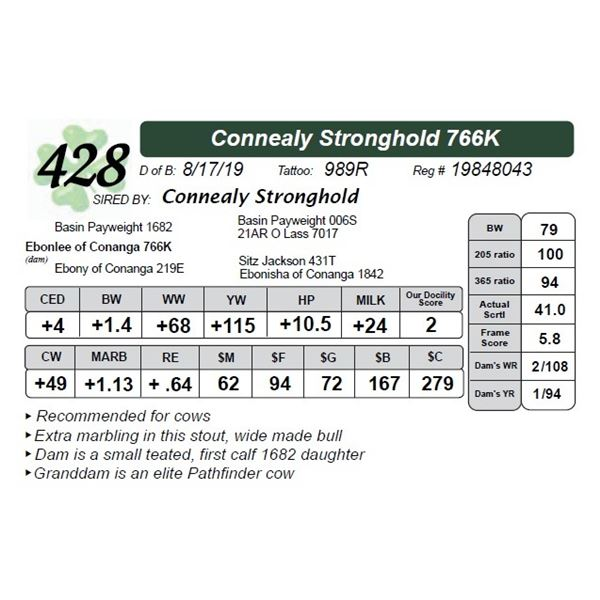 Connealy Stronghold 766K