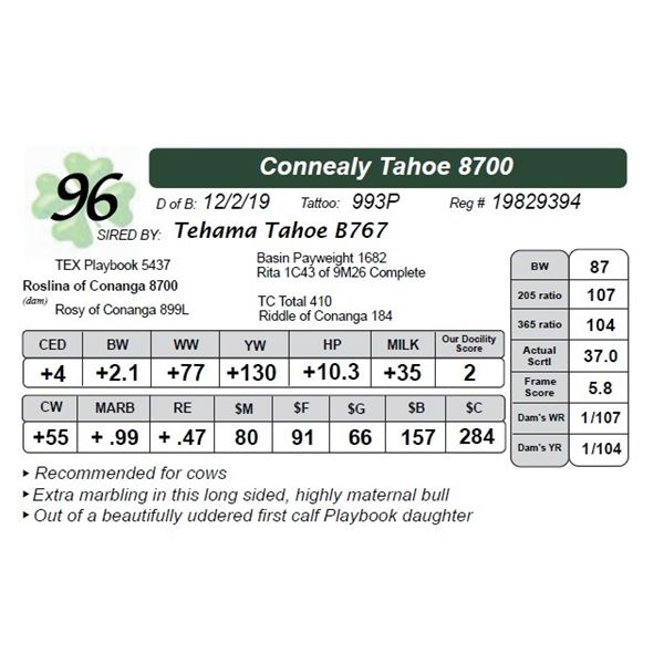 Connealy Tahoe 8700