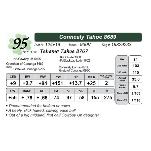 Connealy Tahoe 8689