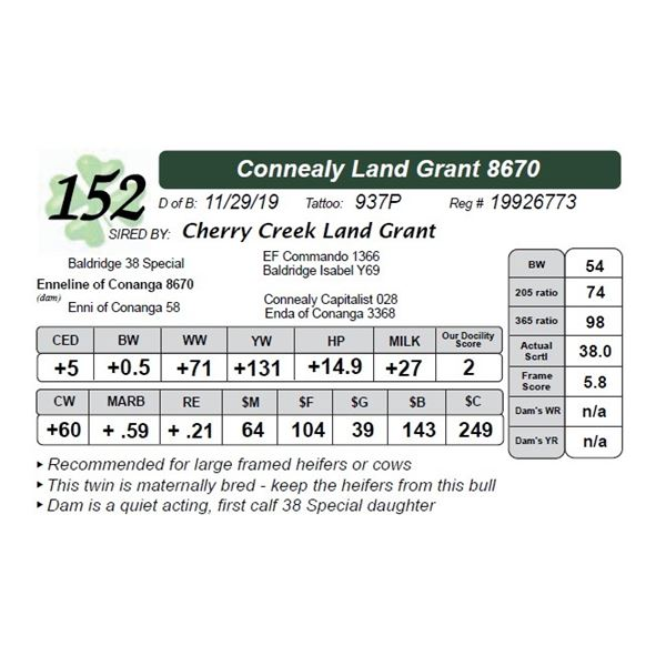Connealy Land Grant 8670