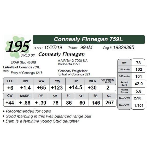 Connealy Finnegan 759L