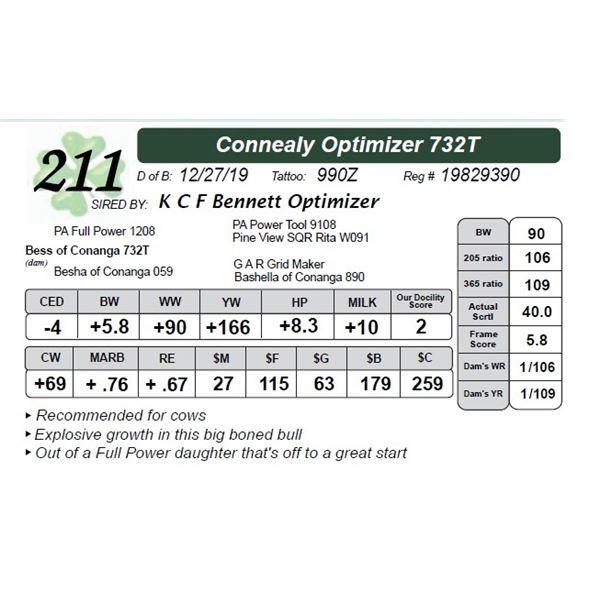 Connealy Optimizer 732T