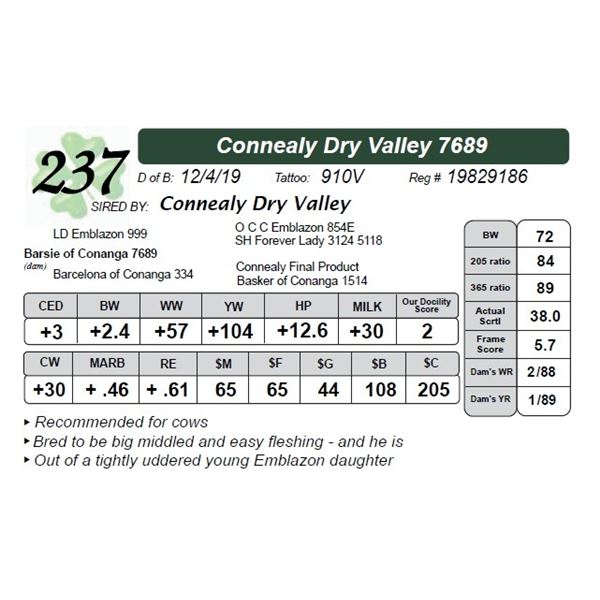 Connealy Dry Valley 7689