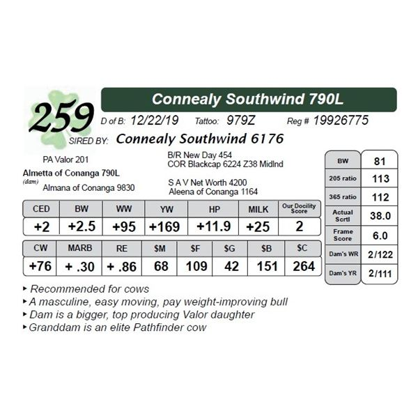 Connealy Southwind 790L