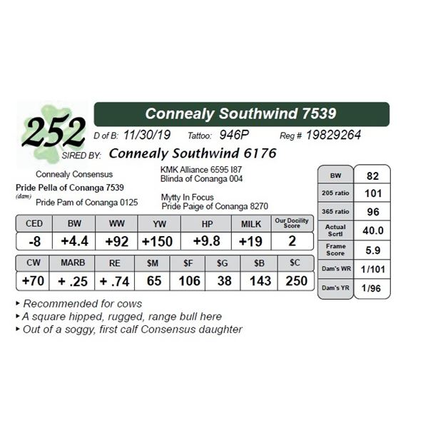 Connealy Southwind 7539